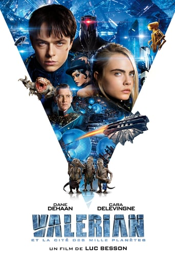 "Poster for the movie ""Valerian y la ciudad de los mil planetas"""