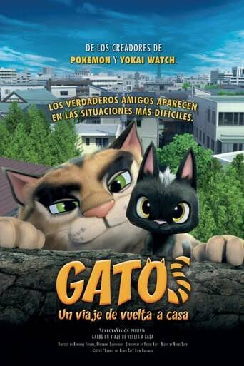 "Poster for the movie ""Gatos. Un viaje de vuelta a casa"""