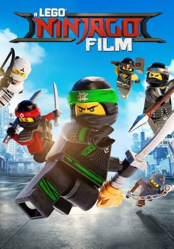 "Poster for the movie ""La LEGO Ninjago película"""