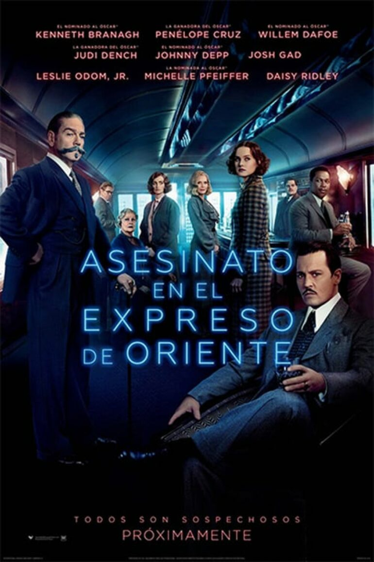 """Poster for the movie """"Asesinato en el Orient Express"""""""