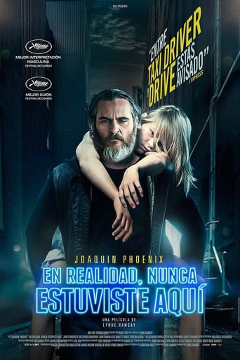 "Poster for the movie ""En realidad, nunca estuviste aquí"""