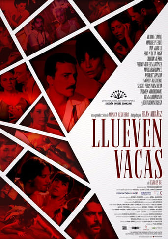 "Poster for the movie ""Llueven vacas"""