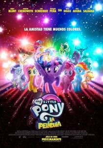 "Poster for the movie ""My Little Pony: La película"""