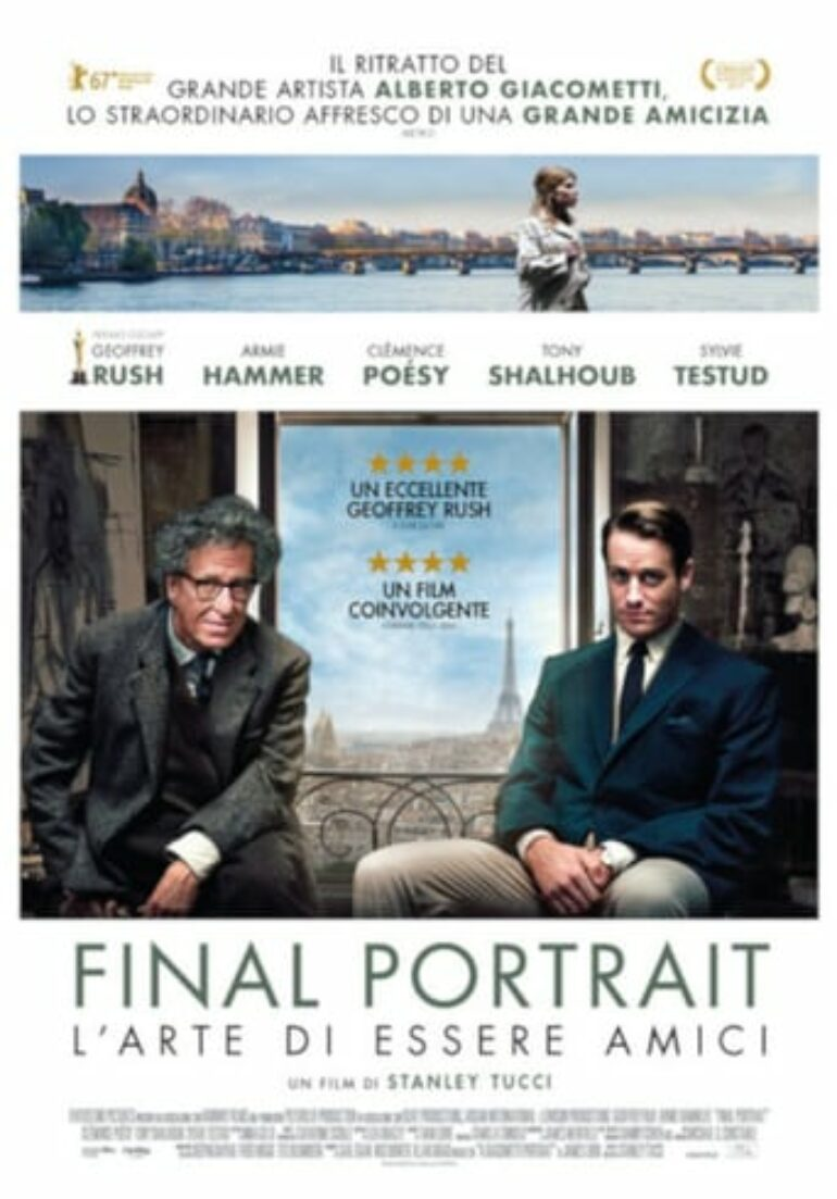 "Poster for the movie ""Final Portrait. El arte de la amistad"""