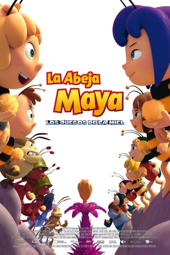"Poster for the movie ""La abeja Maya: Los juegos de la miel"""
