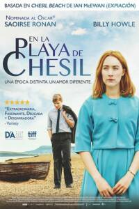 "Poster for the movie ""En la playa de Chesil"""