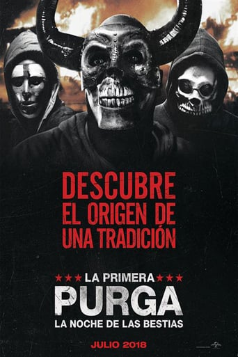 "Poster for the movie ""La primera purga: La noche de las bestias"""