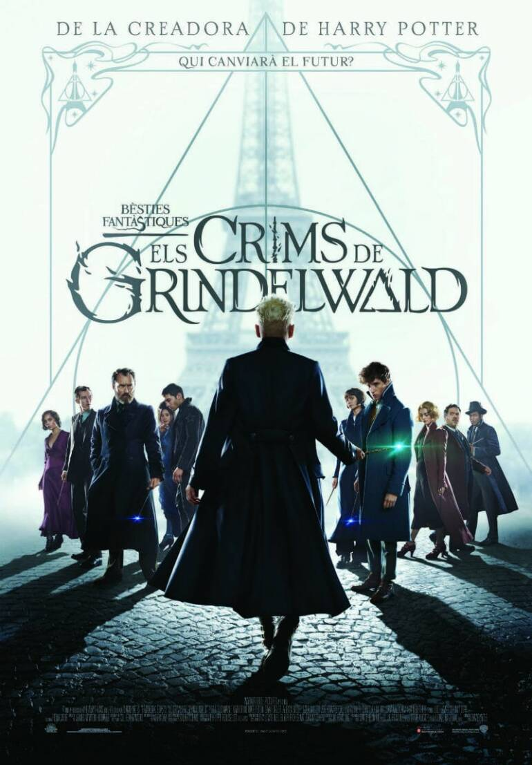 "Poster for the movie ""Animales fantásticos: Los crímenes de Grindelwald"""