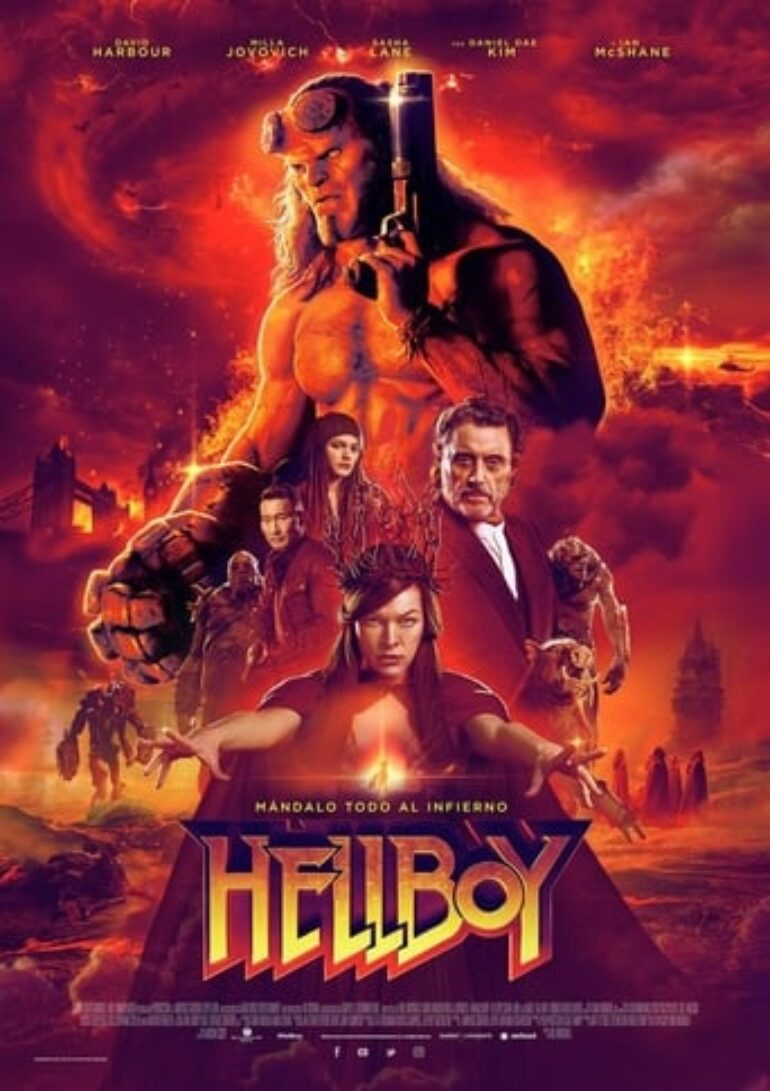 "Poster for the movie ""Hellboy"""