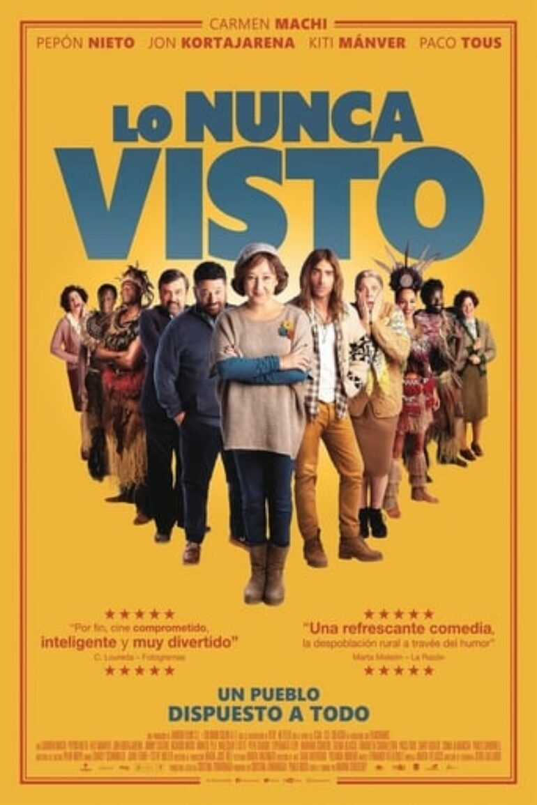 "Poster for the movie ""Lo nunca visto"""