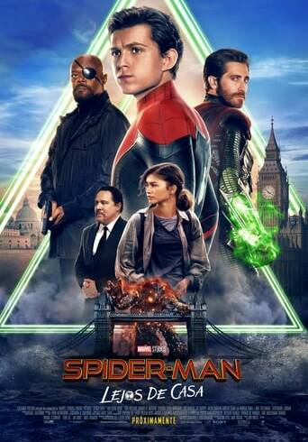 "Poster for the movie ""Spider-Man: Lejos de Casa"""