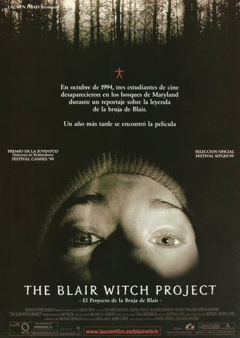 "Poster for the movie ""The Blair Witch Project (El proyecto de la bruja de Blair)"""