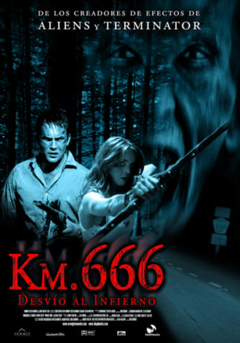 "Poster for the movie ""Km. 666 (Desvío al infierno)"""