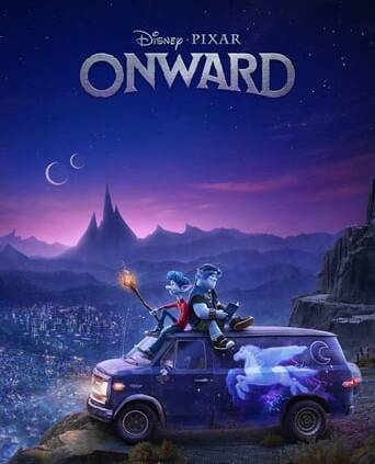 """Poster for the movie """"Onward"""""""