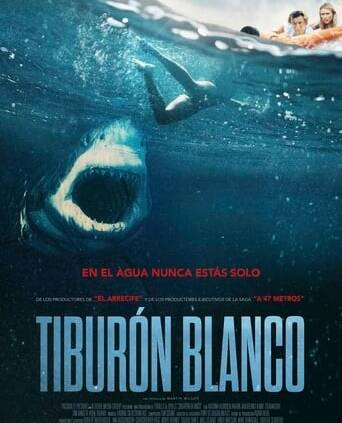 "Poster for the movie ""Tiburón blanco"""